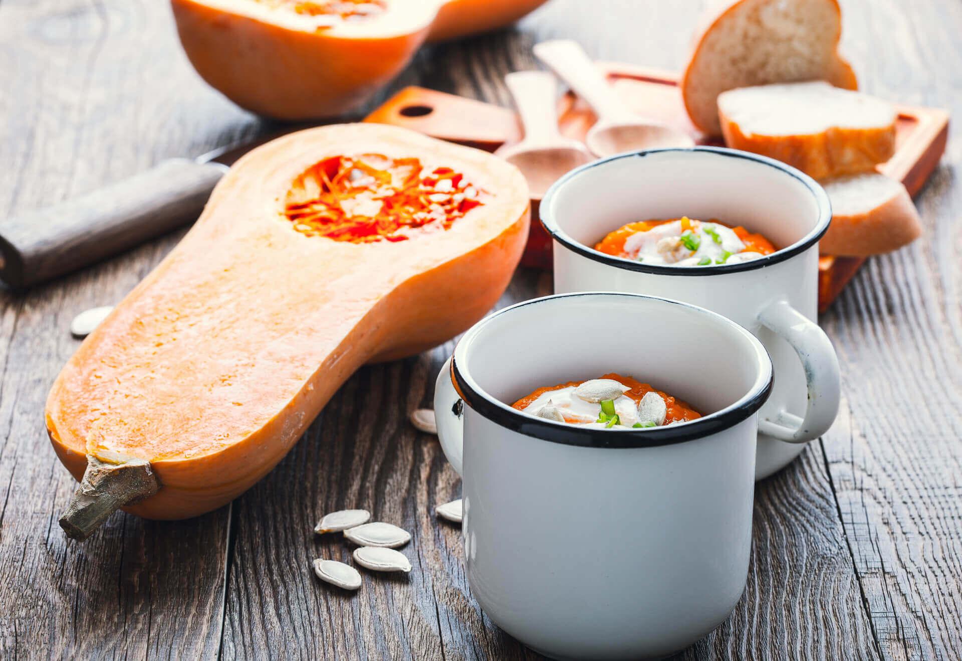 Velouté de Butternut au lait de coco/curry